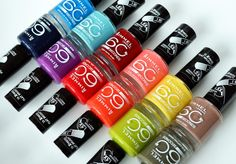 Rimmel nailpolish is the best! 60 Seconds, Paws And Claws, Rimmel London, Fun Nails, Nice Nails, Perfect Nails, Beauty Make Up, Red Bull, Different Colors