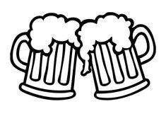 Beer Table, Beer Pong Tables, Mug Drawing, Lion Drawing, Bar Logo, Beer Mugs, Easy Drawings, Vinyl Decals, Alcohol