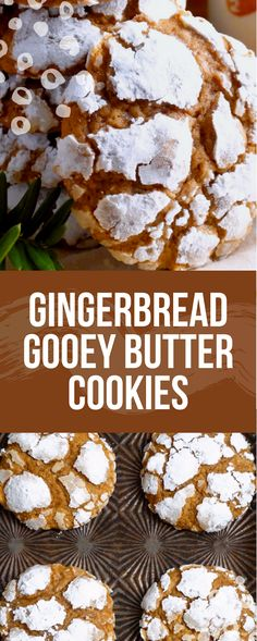 Gingerbread Gooey Butter Cookies – The Best Christmas Cookies Gooey Butter Cookies, Chocolate Peanut Butter Cookies, Melting Chocolate Chips, Chocolate Drizzle, Molasses Cookies, Holiday Cookies, Holiday Baking, Christmas Desserts, Christmas Snacks