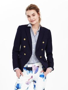 Nautical Basketweave Blazer - $169.99