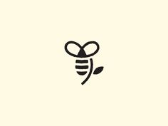 Budding Bee by Nathan Yoder - really like the simplicity of this design Honey Logo, Bee Cupcakes, Honey Label, Honey Packaging, Buzz Bee, Branding Design, Logo Design, I Love Bees, Butterfly Drawing