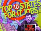 Top 10 states for IT jobs