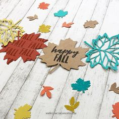 Neat And Tangled, Concord And 9th, Small Leaf, Ink Color, Autumn Inspiration, Happy Fall, Card Making, Thankful, Paper Crafts