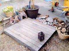 Lovely area for creating & building outdoors