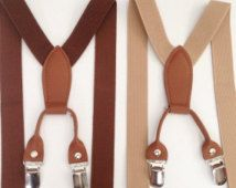 Boys Suspenders & Bowtie Brown Toddler Suspenders Bow tie Set Brown Mens Suspender Baby Boy Suspender Set Tan Suspenders First double up sus