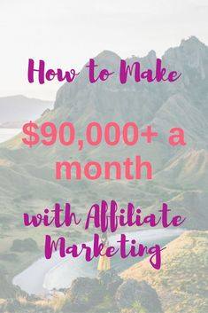 In this interview with Michelle of Making Sense of Cents, we learn how she makes more than $90,000 a MONTH using affiliate marketing on her blog. via /alithehappyva/