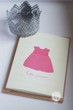 This cute little dress was inspired by my little ones first occasion dress she got to wear, this cute card can be given to a mother to be in a baby