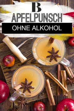 Our recipe for apple punch shows how delicious punch can be without alcohol. We use naturally cloudy apple juice and delicious Christmas spices. Healthy Eating Tips, Healthy Foods To Eat, Healthy Drinks, Apple Juice, Apple Cider, Summer Salads With Fruit, Winter Cocktails, Christmas Party Food, Pie Cake