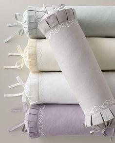Linen neckroll pillow | neimanmarcus
