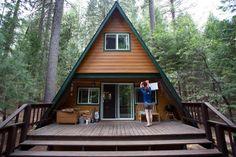 A-frame cabin in the woods, built in 1968 - Dorrington, California