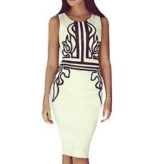 Women's+Plus+Size+White+Round+Neck+Midi+Dress,+Cotton+Blends+Knee-length+Sleeveless+–+USD+$+12.99
