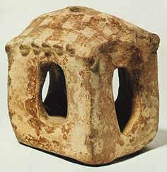 Krannon. Clay house model. Middle Neolithic (c. 5800-5300 BC). Volos Museum M 170. Hellenic Ministry of Culture/ARF. Theocharis, D.R., Neolithiki Hellas, National Bank of Greece, Athens 1973, fig. 8.