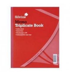 "Buy the new ""Silvine Triplicate Book 254x203mm Memo"" online today. Now in stock."
