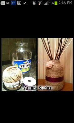 Jar and twine/vase
