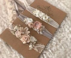 Floral Headbands Three Headbands Baby Headbands Newborn