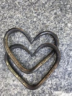 Anniversary gift - Iron wedding gift - Pair of Interlinked Iron Hearts - hand forged hearts - Iron gift - Personalized gift- for him her 6th Anniversary Gifts, Anniversary Surprise, Baby Girl Headbands, Baby Girl Gifts, Horseshoe Projects, Heart Hands, Personalized Gifts, Personalized Wedding, Gifts For Him