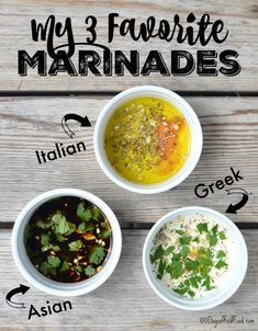 My 3 Favorite Marinades on 100 Days of Real Food - Italian, Asian, and Greek