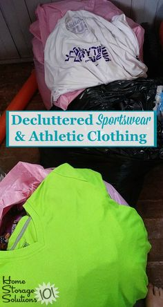How to declutter sportwear and athletic clothing from your closet {on Home Storage Solutions Household Organization, Organizing Tips, Closet Organization, Clutter Control, Home Storage Solutions, Closet Storage, Athletic Outfits, Getting Organized, Storage Spaces