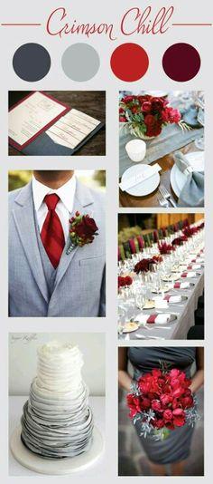 Gray red white