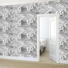 inspiraatio / Designstudio Piia (Nuvolette cole and son fornasetti ii) Cole And Son Wallpaper, Cloud Wallpaper, Grey Wallpaper, Paper Wallpaper, Fornasetti Wallpaper, Piero Fornasetti, Chapel Conversion, Desktop Background Pictures, Hamptons House