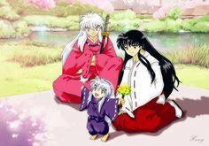 Inuyasha: Kagome, Inuyasha and their child