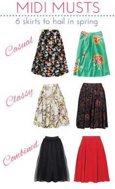 Trend Alert: Midi Skirts to Hail in Spring