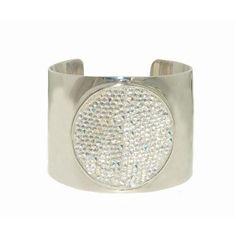 Melissa Odabash Sparkling Silver Crystal Bangle