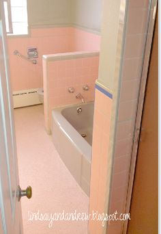 White Beadboard Applied Directly Over Tile My Pink Bathroom Is - Bathroom tile cover up
