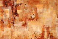 Simon Brushfield 'Eucalypt II' Acrylic and Oil on canvas, 2001 Australian Desert, Nature Paintings, Mark Making, Oil On Canvas, Abstract Art, Collage, Collages, Paintings Of Nature, Collage Art