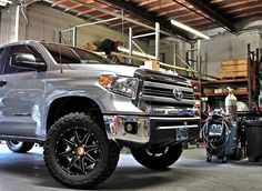 2014 Tundra by Toyota lifted by DSI with black LRG wheels