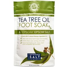 Tea Tree Oil Foot Soak With Epsom Salt, Helps Treat Nail Fungus , Athletes Foot…
