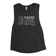 a1c5790e Funny Jiu Jitsu BJJ Ladies' Muscle Tank - GuardWhatsYours Jiu Jitsu T-shirts  : Thicker Thighs, Tighter Triangles BJJ Body Positive Womens Ji