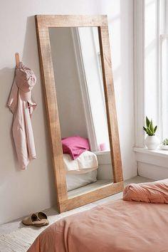 Urban Outfitters Ashton Mango Wood Mirror