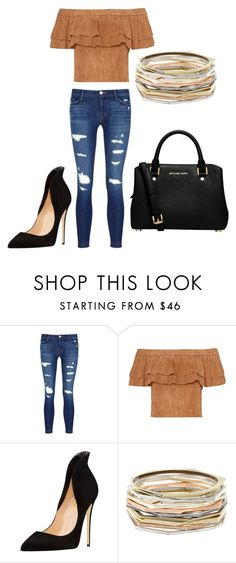 """""""Untitled #135"""" by toniannfratianni on Polyvore featuring J Brand, Kendra Scott and MICHAEL Michael Kors"""