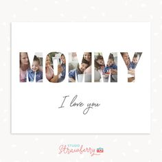 Get access to our entire template library – Strawberry Kit Note Card Template, Love You Messages, Mother's Day Photos, Photo Collage Template, Note Cards, Special Gifts, Templates, Lettering, Mom