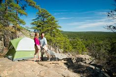 Pitch your tent at Robbers Cave State Park in eastern #Oklahoma and get ready for some breathtaking views while #camping.