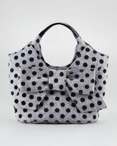 Kate Spade...grey flannel/black polka-dot