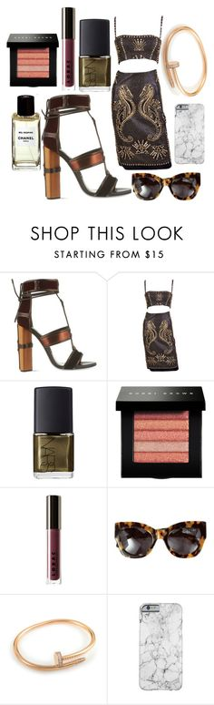 """Untitled #108"" by marinaxmilos ❤ liked on Polyvore featuring moda, Tom Ford, Versace, NARS Cosmetics, Bobbi Brown Cosmetics, LORAC, Karen Walker i Cartier"