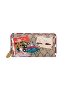 cfa77449388 GUCCI Gucci Courrier GG Supreme zip around wallet.  gucci   Gucci Wallet