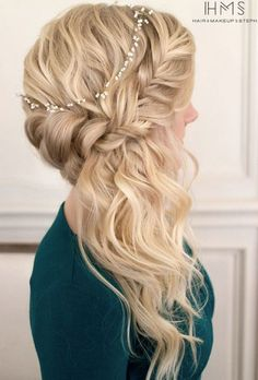 elegant wedding hairstyle via Hair and Makeup by Steph - Deer Pearl Flowers / http://www.deerpearlflowers.com/wedding-hairstyle-inspiration/elegant-wedding-hairstyle-via-hair-and-makeup-by-steph/