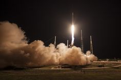 A SpaceX Full Thrust Falcon 9 rocket successfully launched the JCSAT-14 telecommunications satellite from Cape Canaveral Air Force Station's Space Launch Complex 40 in Florida.