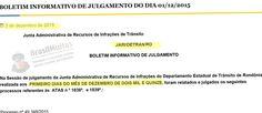 JARI do Detran/RO publica resultados de recursos contra multas de trânsito julgados no dia 1.12.2015 +http://brml.co/1N13QB6