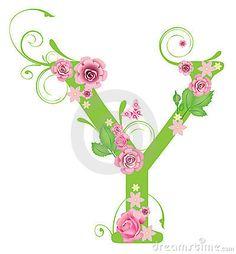 Letra Y con las rosas