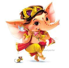 Ganesha Drawing, Lord Ganesha Paintings, Lord Shiva Painting, Ganesha Art, Shri Ganesh Images, Ganesha Pictures, Krishna Images, Happy Ganesh Chaturthi Images, Baby Ganesha