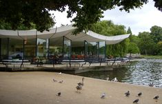 The Serpentine Bar in Hyde Park where Floria and Josh go before the concert