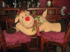 Reno, Tree Branches, Dinosaur Stuffed Animal, Art Pieces, Teddy Bear, Christmas Ornaments, Toys, Holiday Decor, Animals