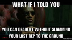 gym humor workout funny deadlift slamming weights Becky