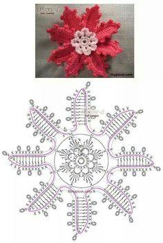 Rose flower crochet pattern                                                                                                                                                                                 Mais