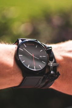 TheManliness Men Store, Wood Watch, Classic, Accessories, Black, Men, Wooden Clock, Derby, Black People