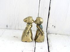 Shop for on Etsy, the place to express your creativity through the buying and selling of handmade and vintage goods. Vintage Kiss, Cherubs, Kissing, Jesus Christ, Boy Or Girl, Angels, Place Card Holders, Brass, God